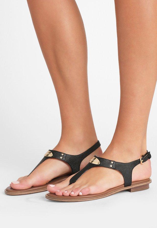PLATE THONG - Sandaler m/ tåsplit - black