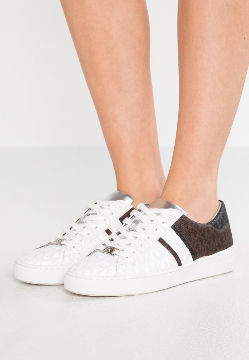 MICHAEL Michael Kors - KEATON STRIPE - Trainers - bright white/black/brown