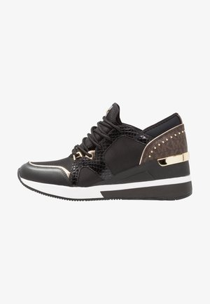 LIV TRAINER - Sneakersy niskie - black/brown