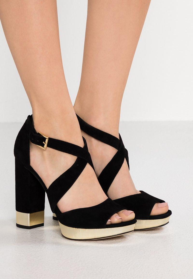 MICHAEL Michael Kors - VALERIE PLATFORM - Sandaler med høye hæler - black