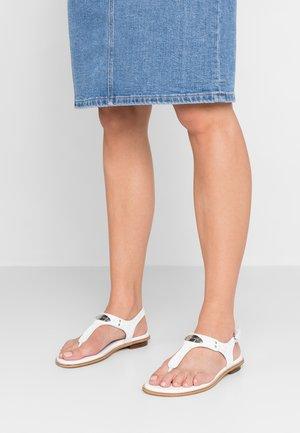 PLATE THONG - Flip Flops - bright white
