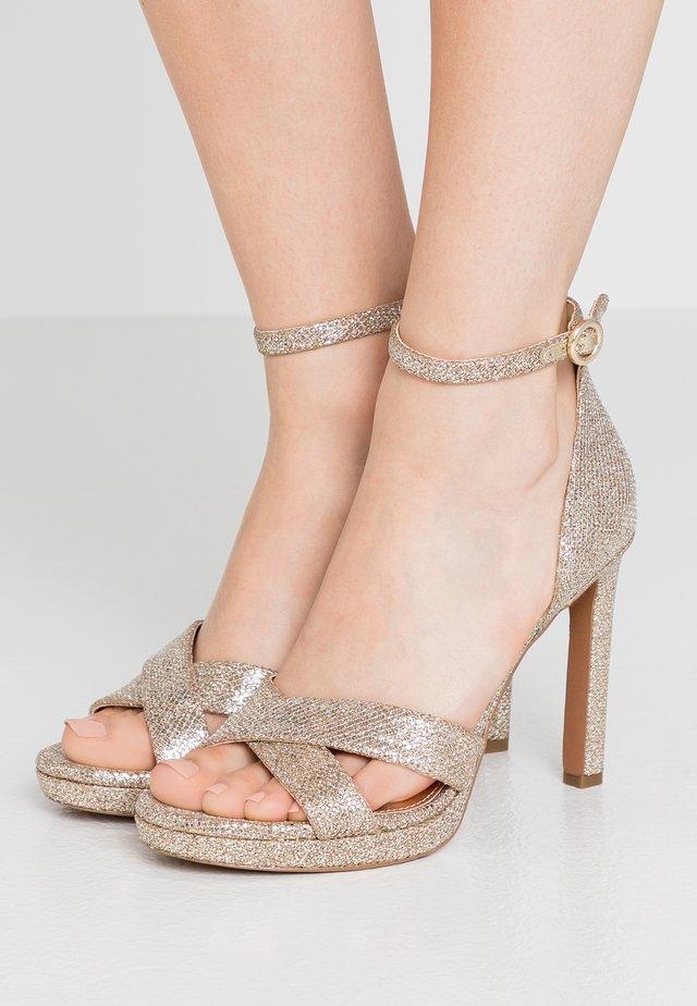 ALEXIA  - Højhælede sandaletter / Højhælede sandaler - sand