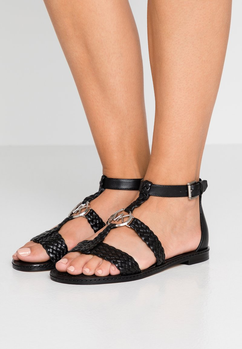 MICHAEL Michael Kors - PIPER FLAT - Sandals - black