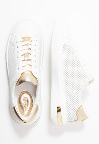 MICHAEL Michael Kors - CODIE LACE UP - Sneakers basse - optic white/platinum gold - 3