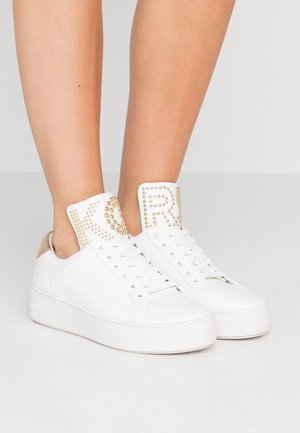 MINDY LACE UP - Trainers - optic white/platinum gold