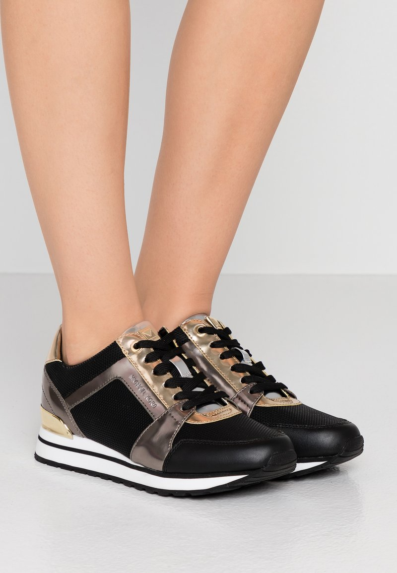 MICHAEL Michael Kors - BILLIE TRAINER - Sneaker low - black/gun