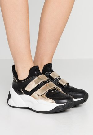 KEELEY TRAINER - Sneaker low - black/palegold