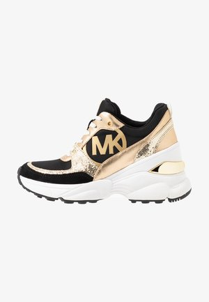 MICKEY TRAINER - Sneaker low - black/palegold