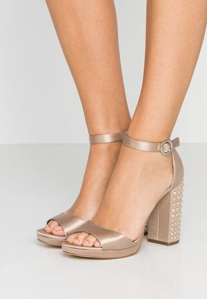 ERIKA ANKLE STRAP - High heeled sandals - bisque