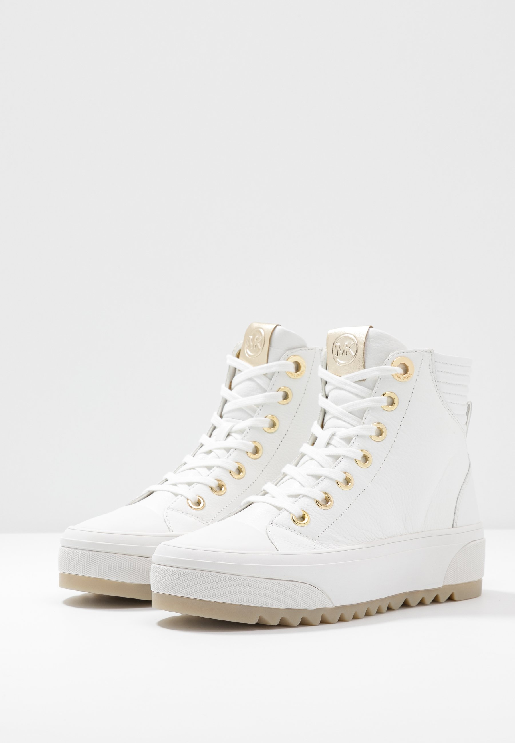 Michael Kors Keegan - Høye Joggesko Optic White/gold