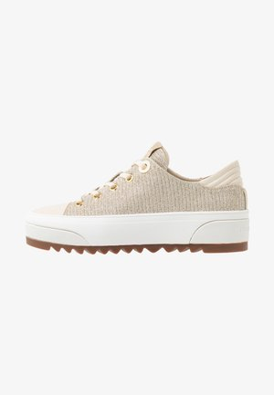 KEEGAN LACE UP - Sneakersy niskie - pale gold