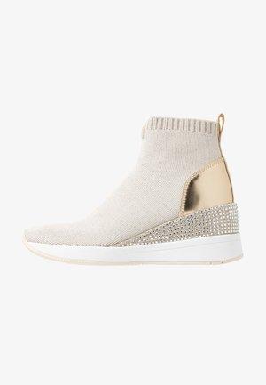 Sneaker high - ecru/gold