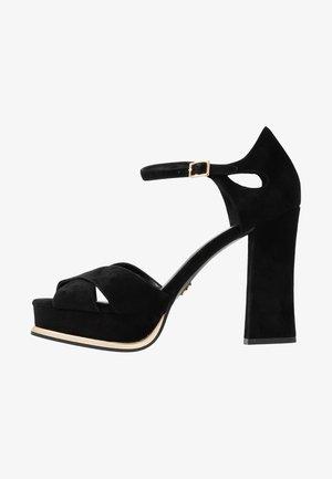 Sandály na platformě - black/palegold