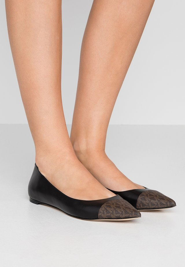 MILA TOE CAP FLAT - Ballerinaskor - black/brown