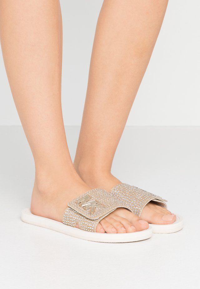 SLIDE - Mules - pale gold