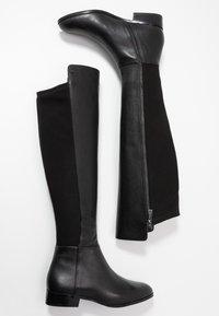 MICHAEL Michael Kors - BROMLEY FLAT BOOTIES - Over-the-knee boots - black - 3