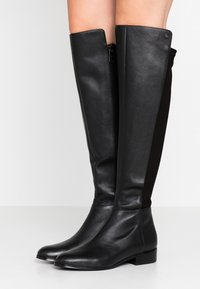MICHAEL Michael Kors - BROMLEY FLAT BOOTIES - Over-the-knee boots - black - 0