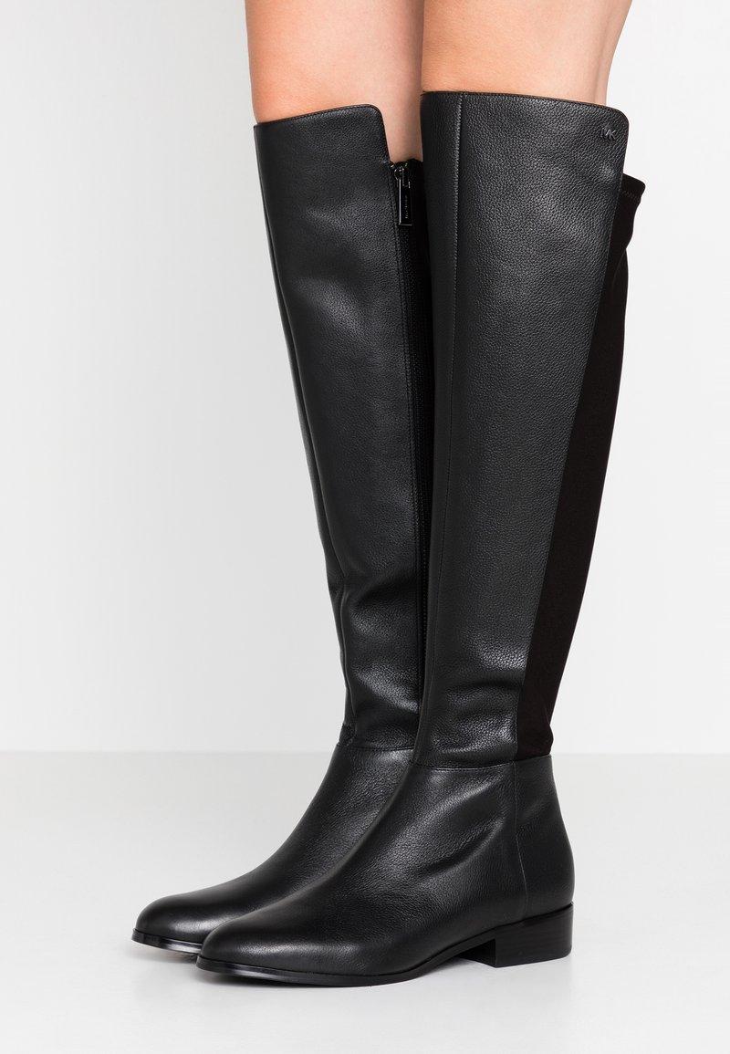 MICHAEL Michael Kors - BROMLEY FLAT BOOTIES - Over-the-knee boots - black