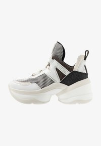 MICHAEL Michael Kors - OLYMPIA TRAINER - Sneakersy niskie - black/optic white - 1