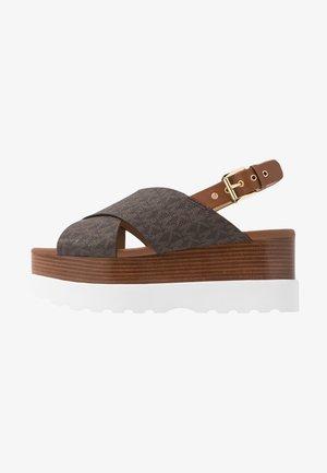 BECKER  - Platform sandals - brown