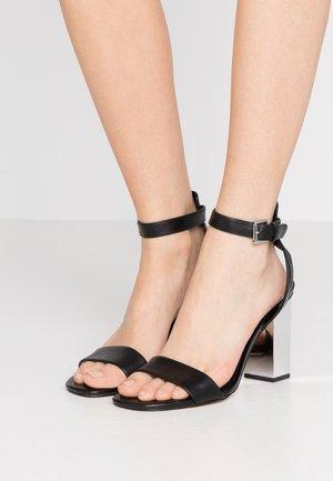 PETRA ANKLE STRAP - Sandály na vysokém podpatku - black