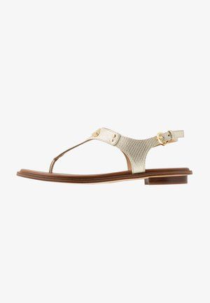 PLATE THONG - Teensandalen - pale gold