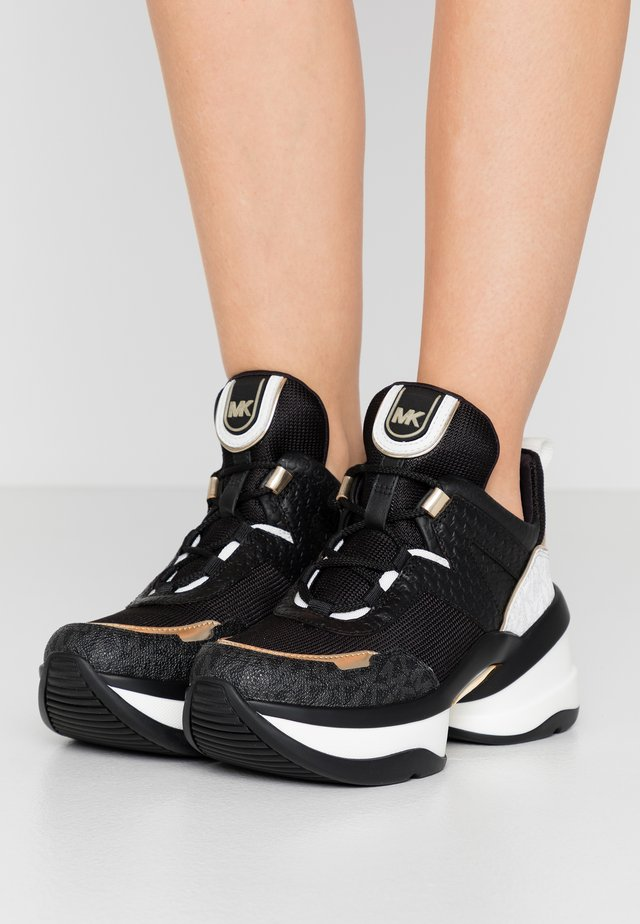 OLYMPIA TRAINER - Sneakers - black/pale gold