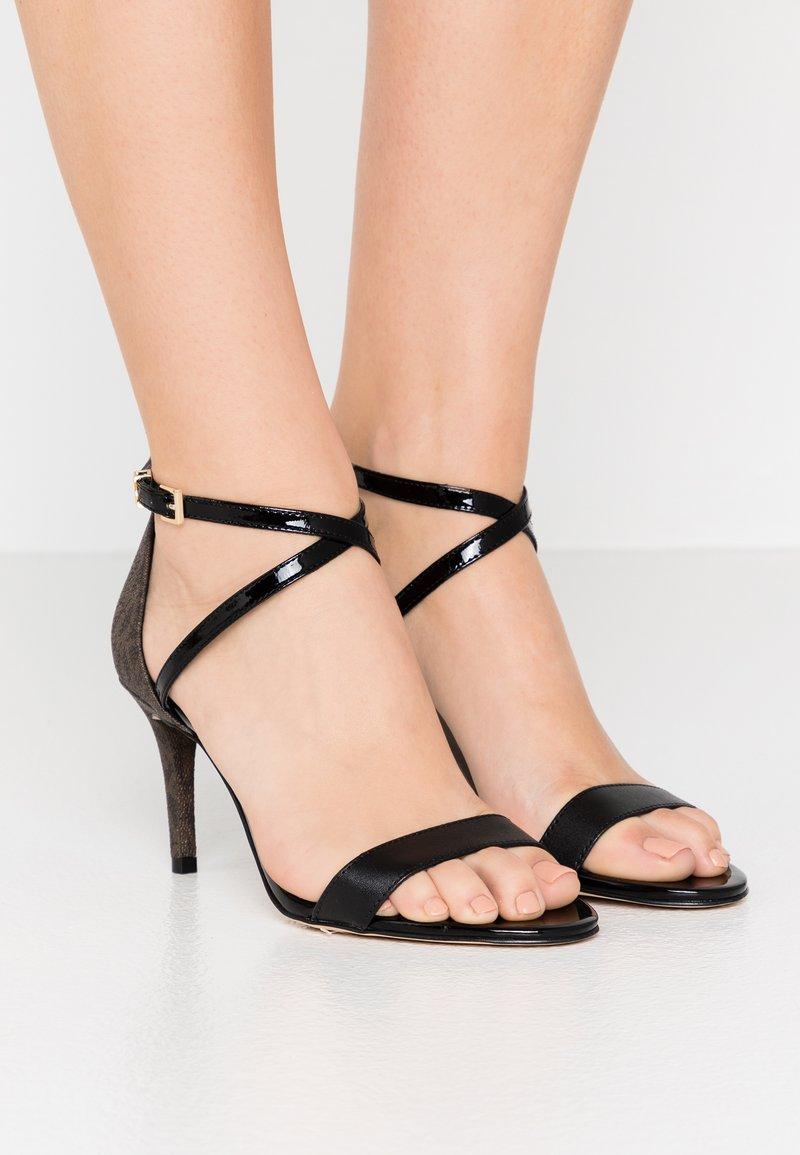 MICHAEL Michael Kors - AVA MID  - Sandals - black/brown