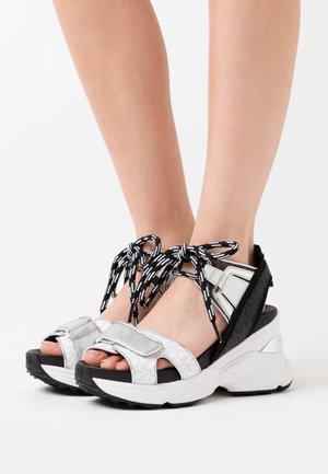 IRMA  - Sandály na vysokém podpatku - bright white/multicolor