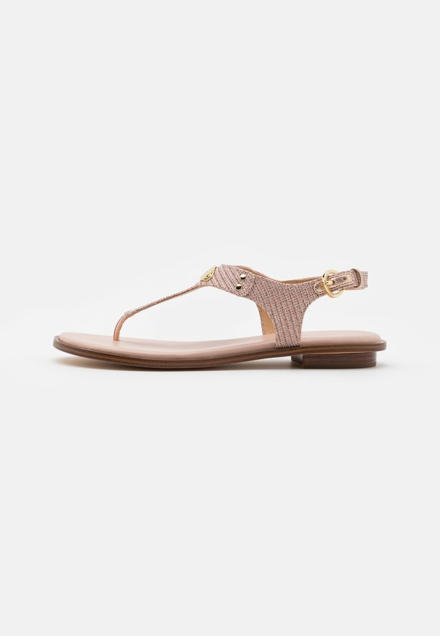 PLATE THONG - T-bar sandals - rose gold