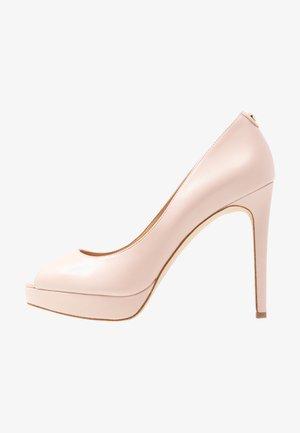 ERIKA PLATFORM - Høye hæler med åpen front - soft pink