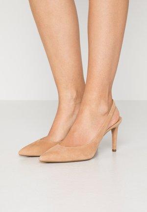 LUCILLE FLEX SLING - Escarpins à talons hauts - peanut