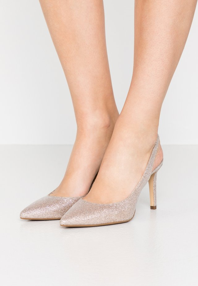 LUCILLE FLEX SLING - Højhælede pumps - pale gold