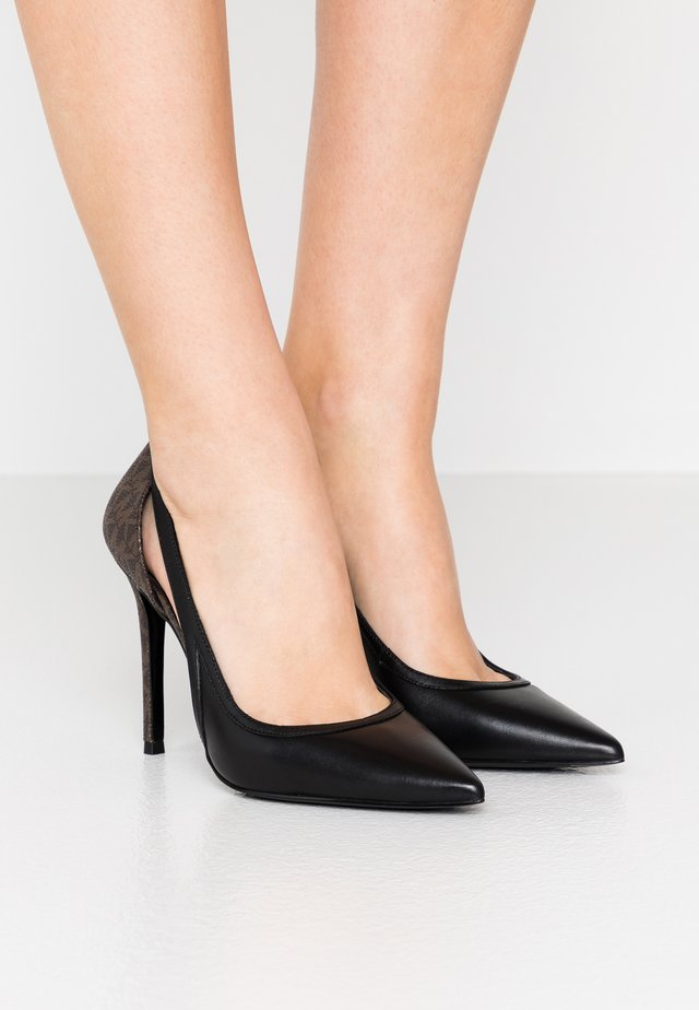 NORA  - Højhælede pumps - black/brown