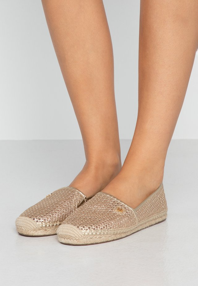 Espadrilky - pale gold