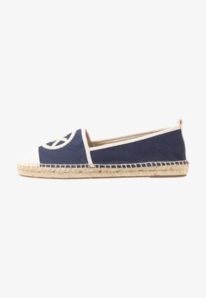 EXCLUSIVE REY  - Loafers - navy/light cream
