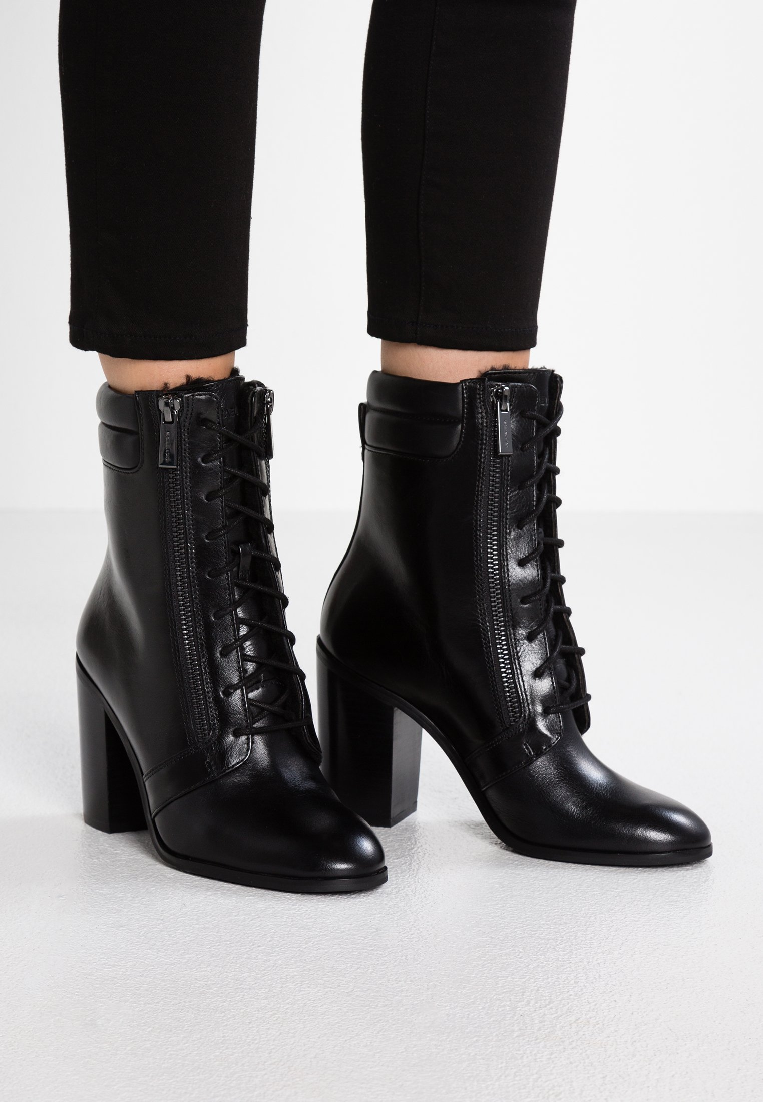 MICHAEL Michael Kors ROSARIO LACE UP - Bottines à talons hauts black