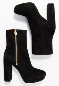 MICHAEL Michael Kors - FRENCHIE PLATFORM BOOTIE - Bottines à talons hauts - black - 3