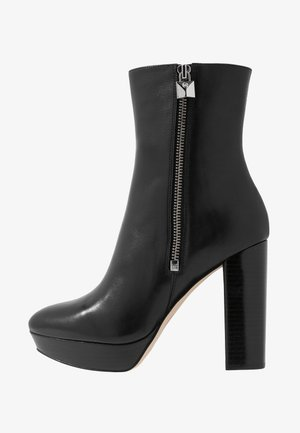 FRENCHIE PLATFORM BOOTIE - Ankelboots med høye hæler - black
