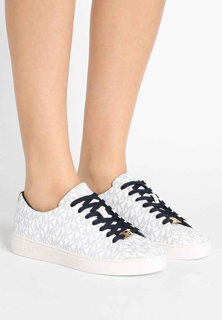 MICHAEL Michael Kors - KEATON LACE UP - Sneaker low - white/navy