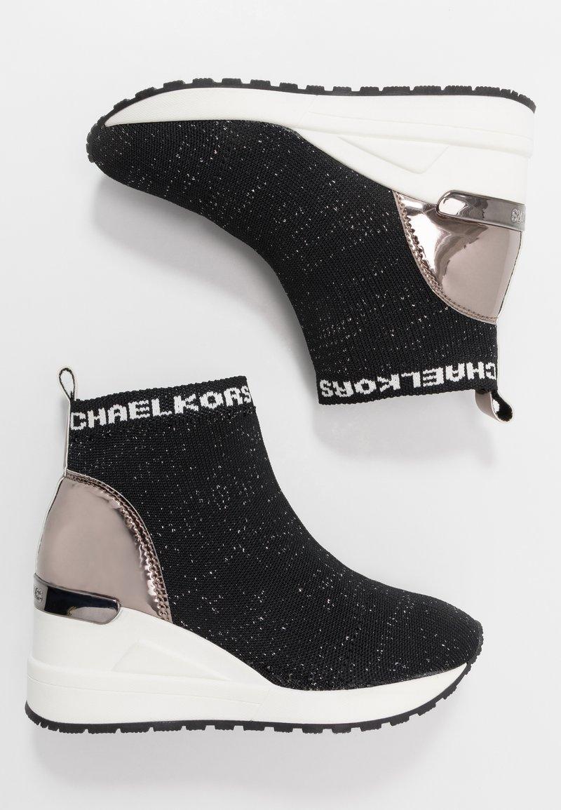 MICHAEL Michael Kors - ZIA NEO ORA - Zapatillas altas - black