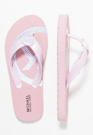 ZIA ENDINE - T-bar sandals - pink/silver