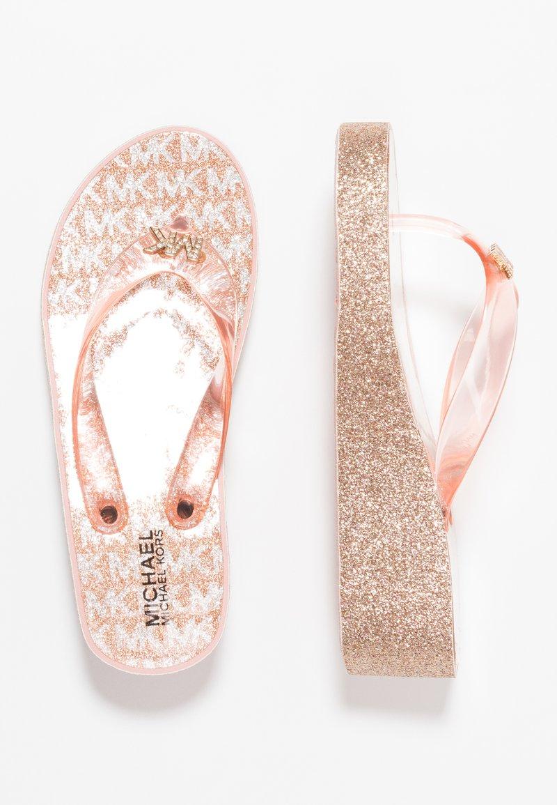MICHAEL Michael Kors - ZIA GAGE KILEY - Sandály s odděleným palcem - rose gold
