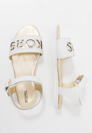 ZIA PEEK - Sandals - white/gold