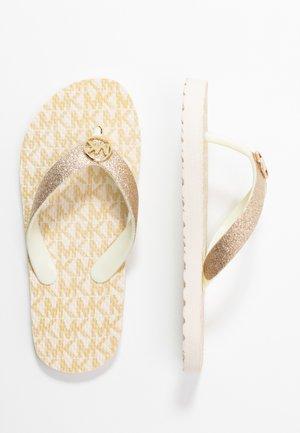 ZIA ENDINE - Sandály s odděleným palcem - gold