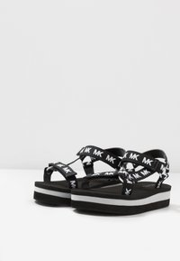 MICHAEL Michael Kors - ZIA VELOCITY - Sandals - black/white - 3