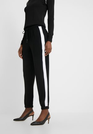 STRIPE TRACK PANT - Kalhoty - black/white