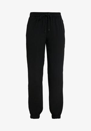 STRIPE TRACK PANT - Broek - black/white