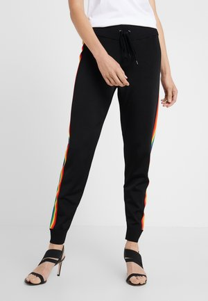 RAINBOW STRIPE PANTS - Pantalon de survêtement - black