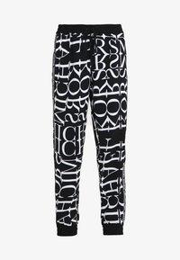 MICHAEL Michael Kors - LOGO TRACK PANT - Pantalones - black/white - 5